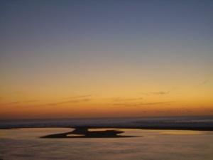 le banc d'arguin au coucher du soleil