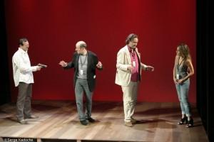 photo d'une scène de stand up au tristan bernard théâtre paris