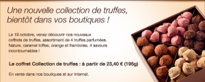 photo truffes parfumées maison du chocolat
