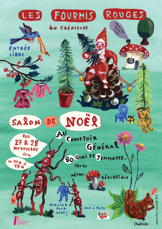 affiche du salon les fourmis rouges