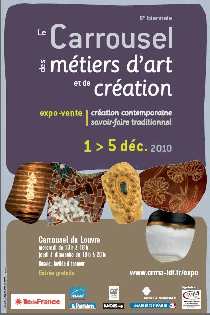 affiche de l'expo vente biennale des métiers d'art et création
