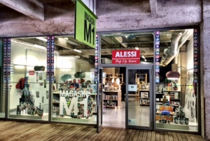 magasin M1 pop up store Alessi